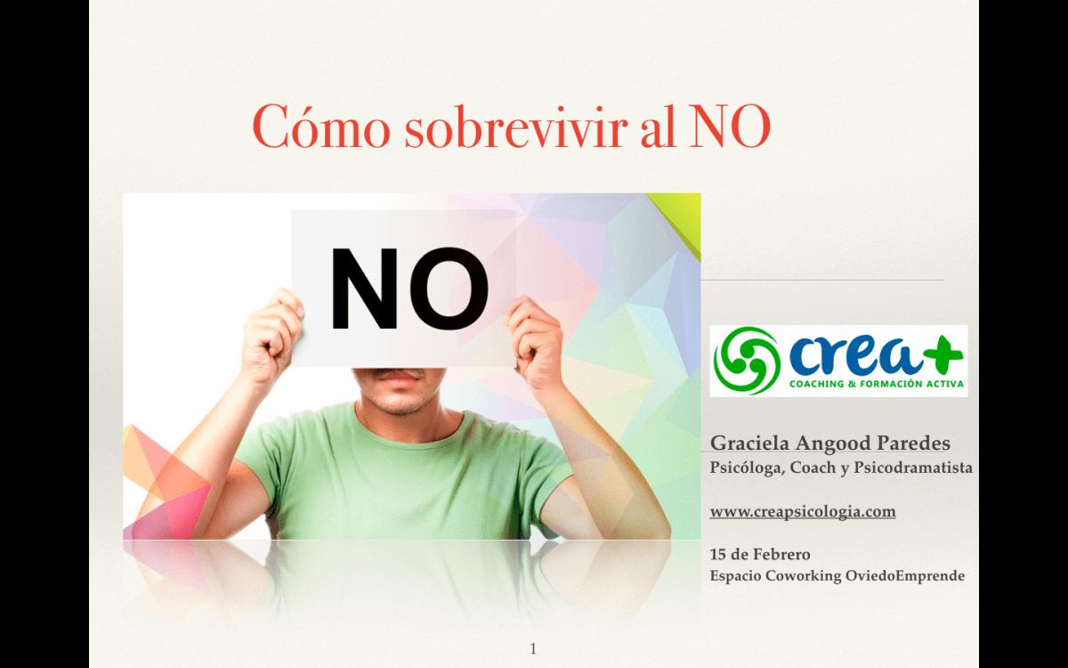 """Taller en Oviedo Emprende """"Cómo sobrevivir al NO"""""""