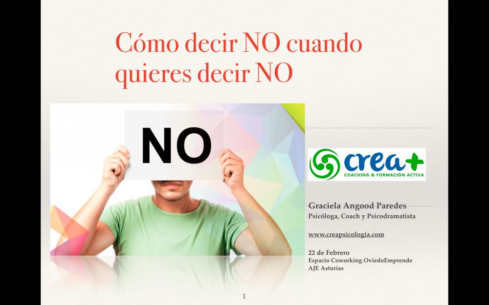 """Taller en OviedoEmprende: """"Cómo decir NO cuando quieres decir NO"""""""