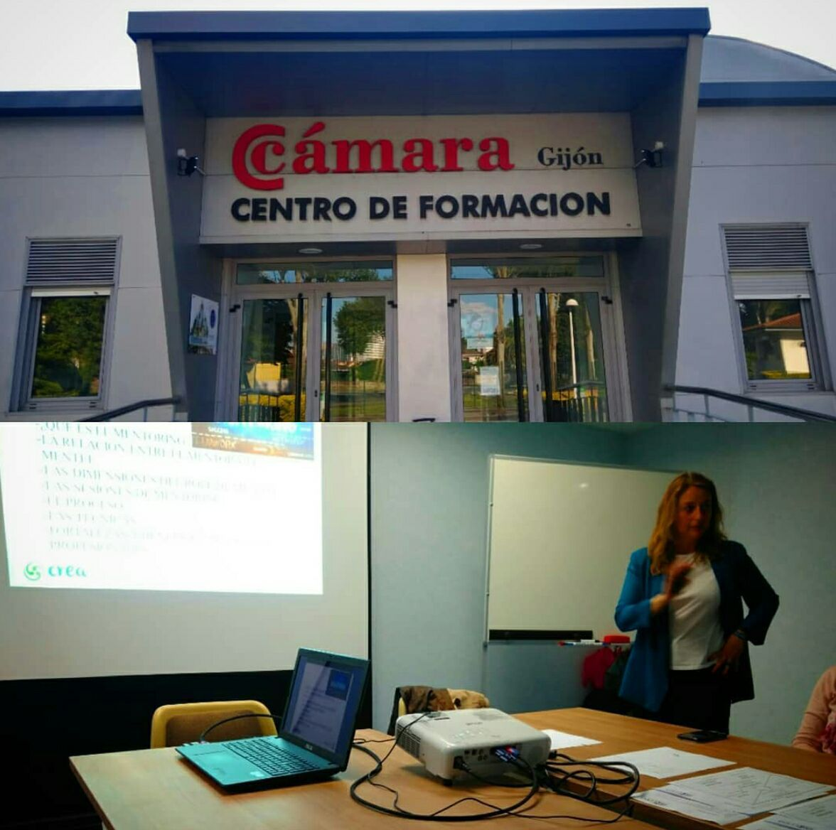 Impartiendo formación en Mentoring para la Camara de Comercio de Gijón