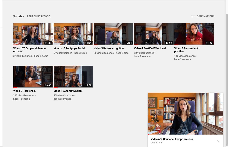 Vídeos Psicología